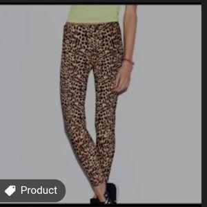 NWT VS Pink Leopard Cheetah animal print legging S